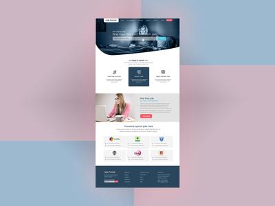 job portal web design dribbble