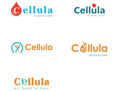 Cellula Logo typography logo icon flat design