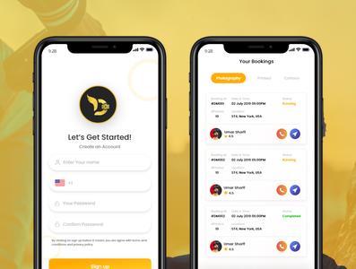Dorismond mobile app mockup typography layout app ui flat design