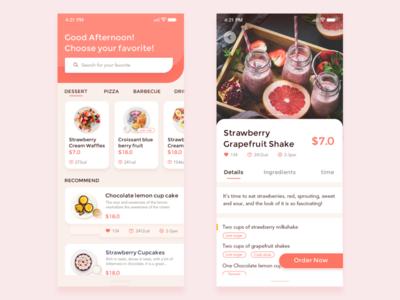 food app mobile app mockup typography layout app ui flat design