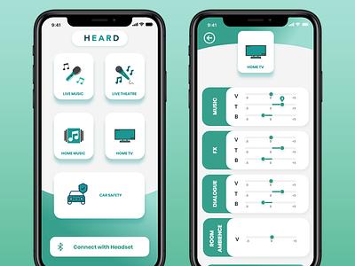 Music Equaliser app mobile app mockup layout typography app ui flat design