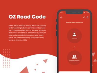 OZ Road Code website web mockup layout typography ui flat design