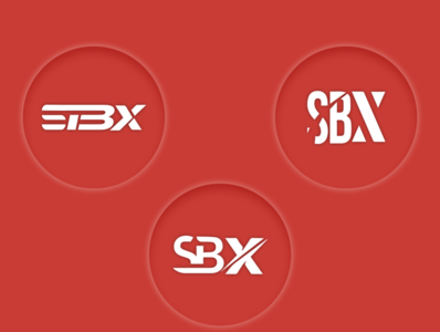SBX Logo minimal icon vector illustration branding logo typography flat