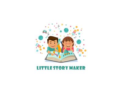 LMS logo animation vector branding illustration logo icon typography design