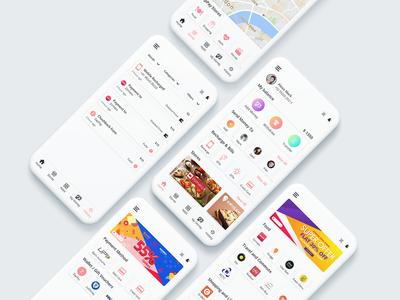 Wallet App Concept mobile app mockup app layout typography ui flat design