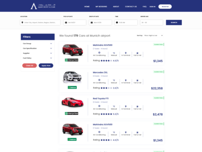 Car list icon minimal website web mockup layout typography ui flat design