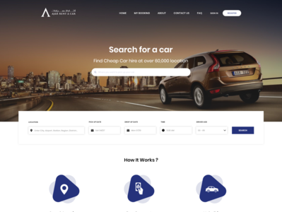 Car Rental Website minimal website web mockup layout typography ui flat design