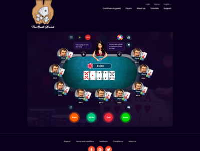 Poker Website website animation icon vector mockup layout typography ui flat design