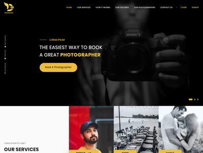 Photographer Website website web mobile app mockup layout typography ui flat design