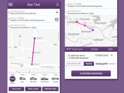 Taxi App minimal mobile app app mockup layout ui typography flat design