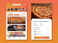 Food App minimal mobile app app mockup layout ui typography flat design