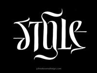 Style ambigram