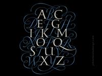 Alphabet design for shirt