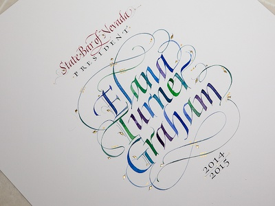 Hand Lettered Commemoration watercolor letter-artist letterarts calligrapher scribe