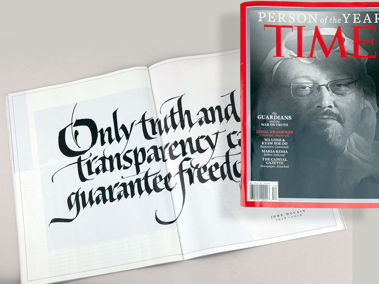 TIME magazine, Year-end, Person of the Year Issue calligraphy pen john stevens calligrapher