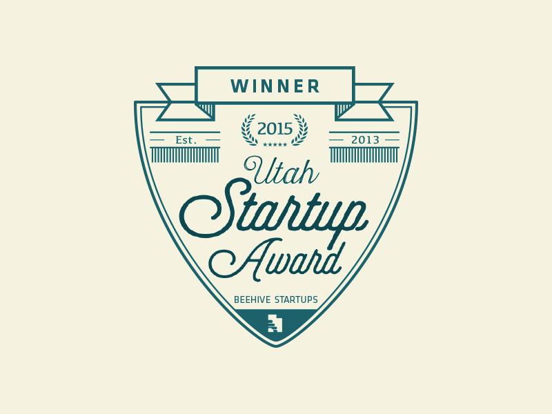 Startup Award Comp logo mark crest award identity vintage type