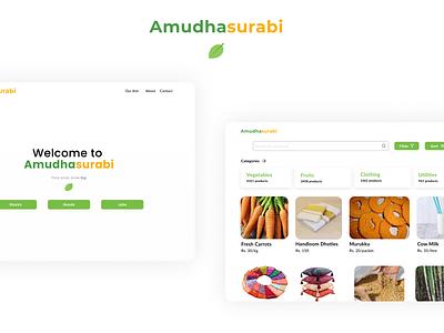 Amudhasurabi village minimal website design web illustration ui