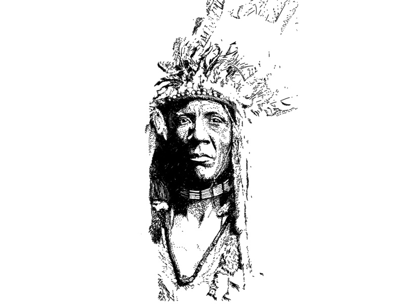 Indian folk aboriginal american america art vector art 2d art graphic art graphic design illustration black and white black  white indian culture indian injun
