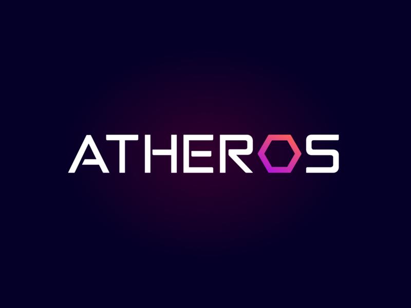 ATHEROS - logo design dark version typography artificial intelligence vector brand identity uxui logotype logo ux design ui branding