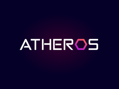 ATHEROS - logo design dark version typography artificial intelligence vector brand identity uxui logotype logo ux design ui branding