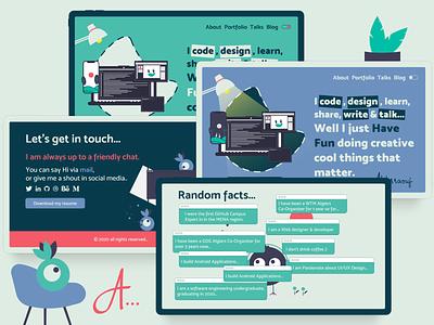 Interactive Personal Website web design website design ui design ui  ux flat design personal website portfolio
