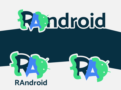 RAndroid logo flat logotype refactoring plugin android development brand identity brand design branding logo design logo