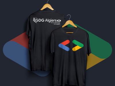 GDG Algiers T-Shirt   new logo