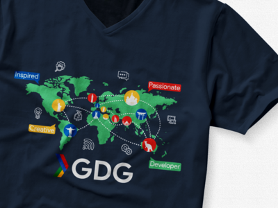 My GDG T-Shirt Design Contest Submission'18 N 2.0