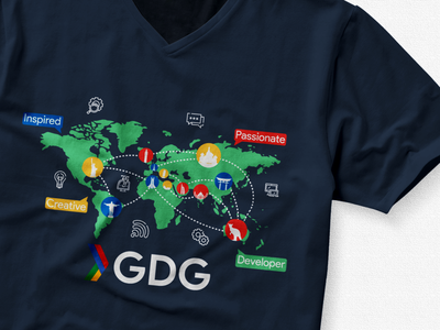 My GDG T-Shirt Design Contest Submission'18 N 2.0 inspiration sharing dev community tshirt printed gdg alger algiers