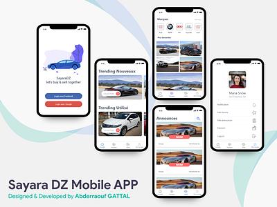 Sayara Dz Mobile App mobile design store cars ui  ux mobile app design ui mobile app