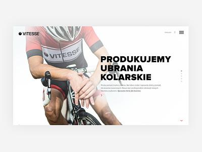 Vitesse downhill wear sport sztachanski angular vitesse webdesign fullscreen website site cycling bike