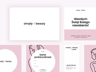 Simple beauty CI typography design poland corporate branding ci logo rebranding cosmetic beauty branding idenitity