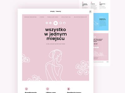 Simply beauty website pink rose woman spa ui simply beauty layout website minimal poland branding