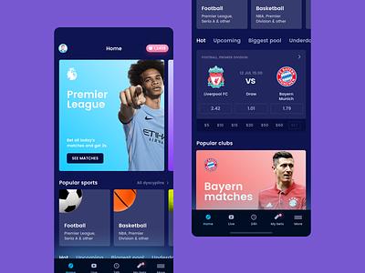 Bet App Home crypto blockchain game blockchain design wallet football categories category sport bet app