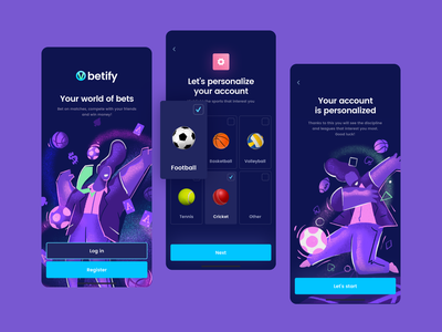 Bet App Start football crypto blockchain game blockchain category sign login onboarding dyscypline sport select coins bookmaker bet