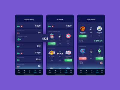 Bet App History blockchain game blockchain game play team coupon task sport loose win status history bookmaker bet