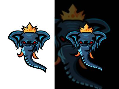 king elephant logo logo animation logo design branding elephantlogo logo animal ux elephant branding vector logo design logos minimal logo illustration design