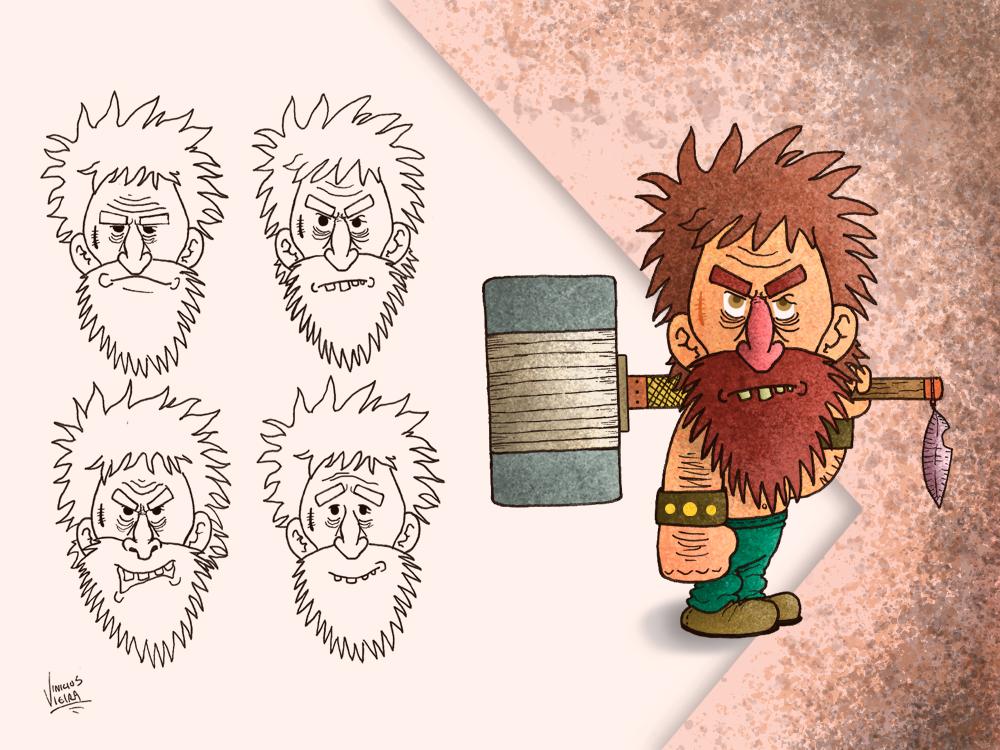 Ax warrior, character creation game cartoon sketch ax illustration warriors vikings conceptart characterdevelopment characterdesign