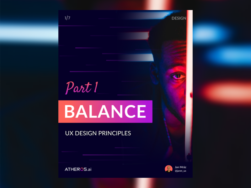 UX Design Principles Part 1 - Balance minimal flat balance instagram template instagram post instagram carousel tips ui ux typography identity branding