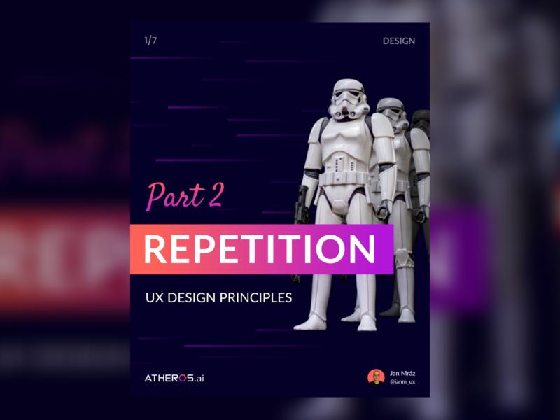 UX Design Principles Part 2 - Repetition ai ui instagram post instagram socialmedia web ux identity flat minimal branding repetition