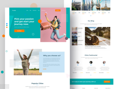 Travel Landing page website design photography website vacation trip planner travel guide travel websit travel web travel blog travel agency travel traveling software nature mockup ux ui landingpage landing page homepage