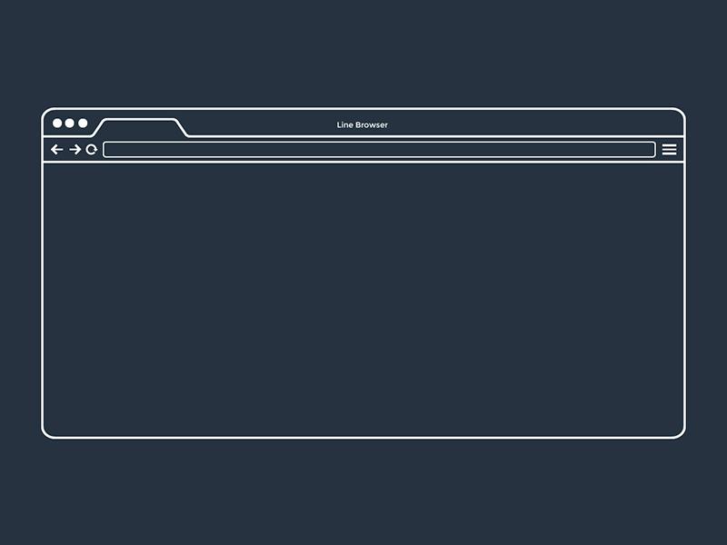 Line Browser Freebie browser freebie free line flat minimal vector