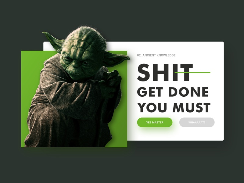 Yoda Quote By Drawithpixels Dribbble Dribbble