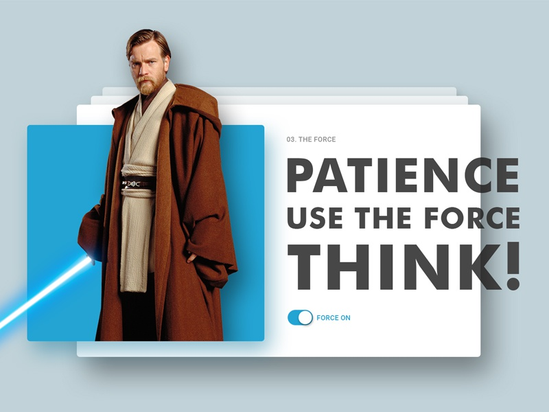 Obi Wan Quote By Drawithpixels Dribbble Dribbble