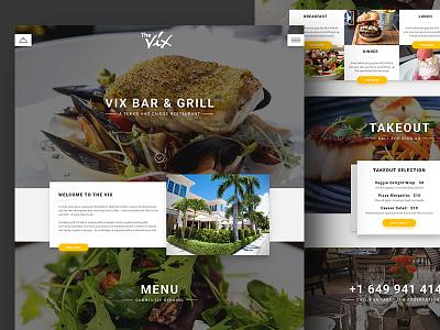Bar & Grill material design grid minimal glow shadows material restaurant food grill bar