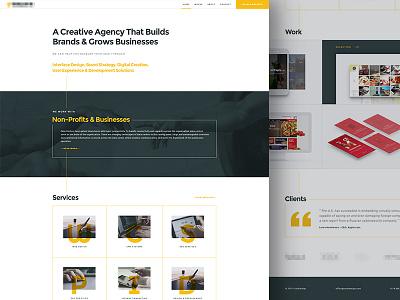 Secret Project lines screenshot light clean business apps agency creative agency secret project web design