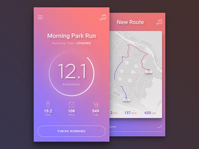 Daily UI #01 - Running App