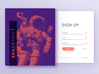 Daily UI #03 - Sign Up signup daily ui login duotone minimal gradients light shadows material ux ui dailyui