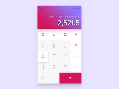 Daily Ui  #04 - Calculator user interface calculator purple pink shadows colorful vibrant gradients ux ui daily ui dailyui