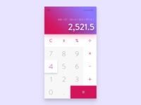 Daily Ui  #04 - Calculator